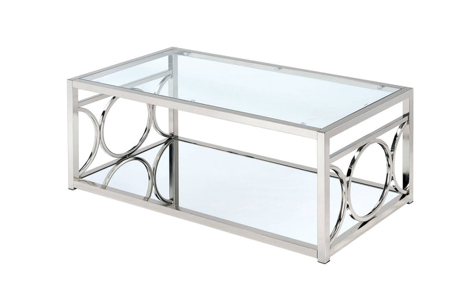 Furniture Of America Rylee Chrome Metal Finish Coffee Table