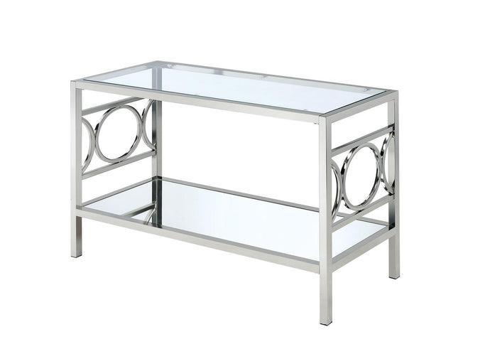 Furniture Of America Rylee Chrome Metal Finish Sofa Table