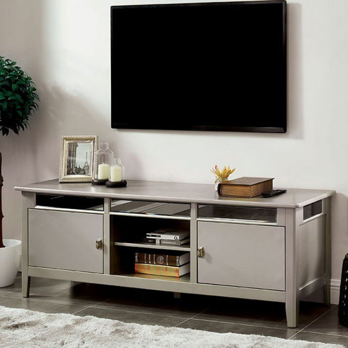 Furniture Of America Xaviera Silver Wood Finish TV Stand