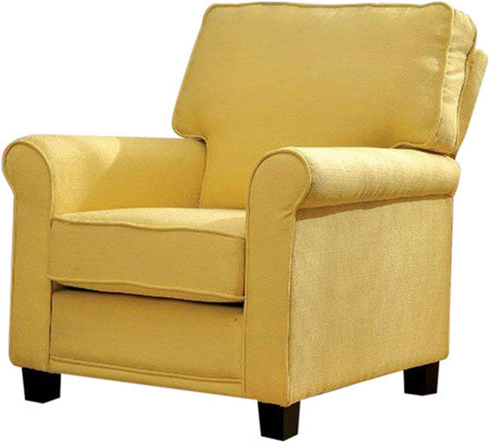 Furniture Of America Belem Yellow Linen Finish Accent Chair