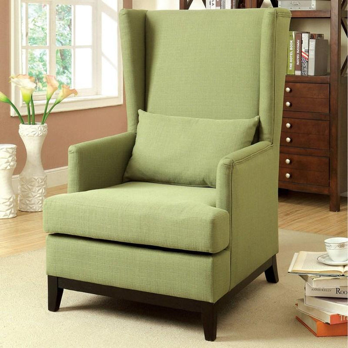 Furniture Of America Stafa Green Flannelette Finish Accent Chair
