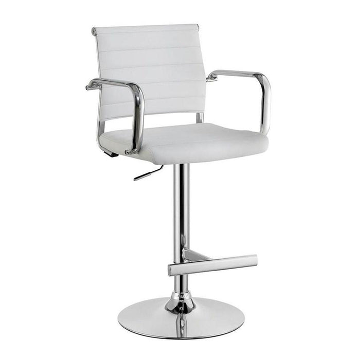 Furniture Of America Sedona White Leatherette Finish Bar Stool