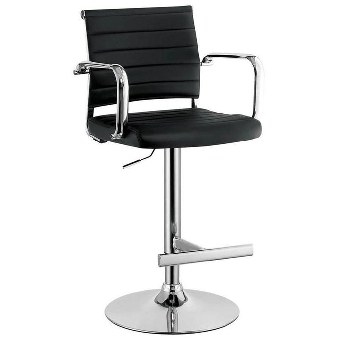Furniture Of America Sedona Black Leatherette Finish Bar Stool