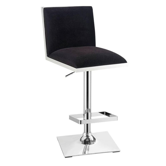 Furniture Of America Orjan Black Fabric And Metal Finish Barstool