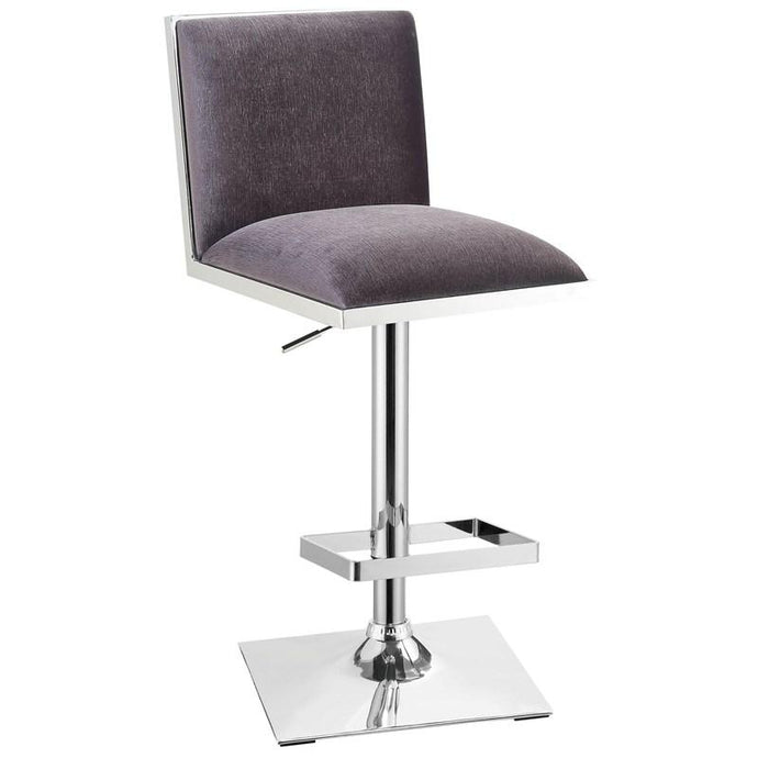Furniture Of America Orjan Gray Fabric And Metal Finish Barstool