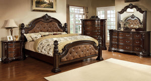 Monte Vista I CM7296DA-Q 4 Pieces Brown Cherry Queen Bedroom Set