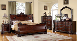 Bellefonte CM7277CK Traditional Brown Cherry King Sleigh Bedroom Set