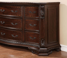Load image into Gallery viewer, Bellefonte CM7277EK Traditional Brown Cherry King Sleigh Bedroom Set