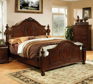 Velda II CM7952CK Traditional Brown Cherry Finish California King Bed