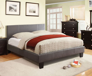 CM7008GY-EK Winn Park Gray Padded Leatherette Eastern King Bed