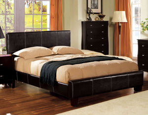 Uptown CM7010CK Espresso Padded Leatherette California King Bed