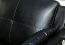 Load image into Gallery viewer, Furniture of America Pierre 2 Piece Black Leatherette Sofa Loveseat Set
