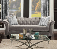 Load image into Gallery viewer, Antoinette SM2225-SF Dolphin Gray Premium Velvet Fabric Sofa Couch