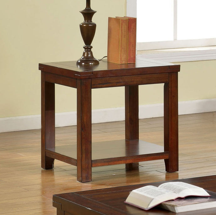 Furniture of America CM4107E Estell Transitional Dark Cherry End Table