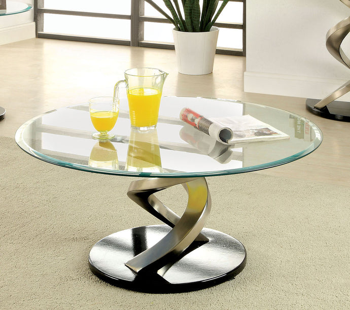 Furniture of America CM4729C Nova Tempered Glass Coffee Table