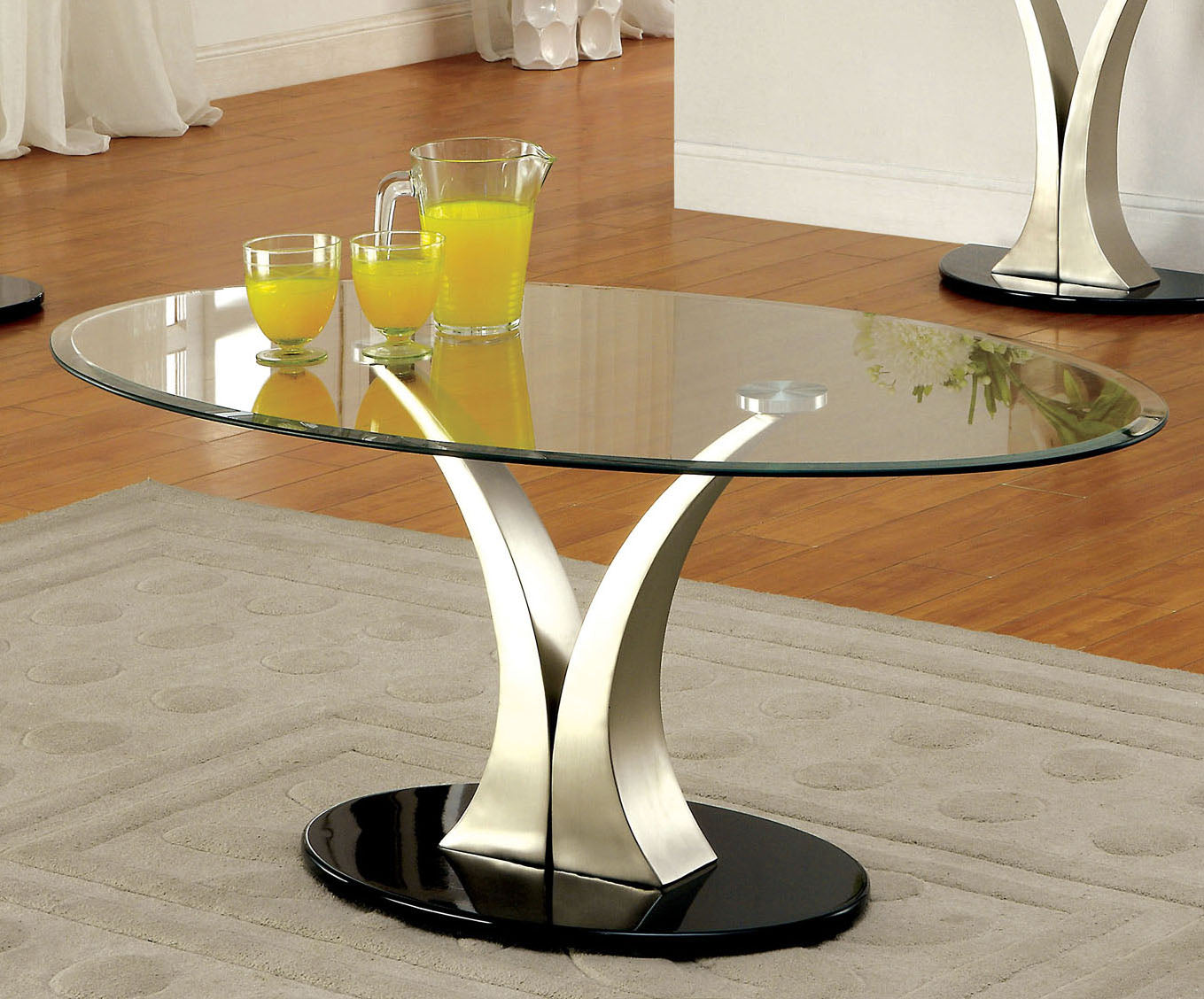 Furniture of America CM4727C Valo Tempered Glass Coffee Table