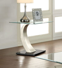 Load image into Gallery viewer, Furniture of America CM4728E Roxo Tempered Glass End Table