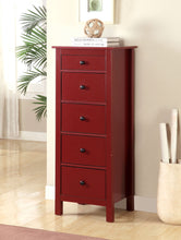 Load image into Gallery viewer, Furniture of America CM-AC119RD Launces Contemporary Red Storage Chest