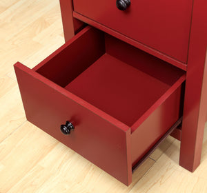 Furniture of America CM-AC119RD Launces Contemporary Red Storage Chest