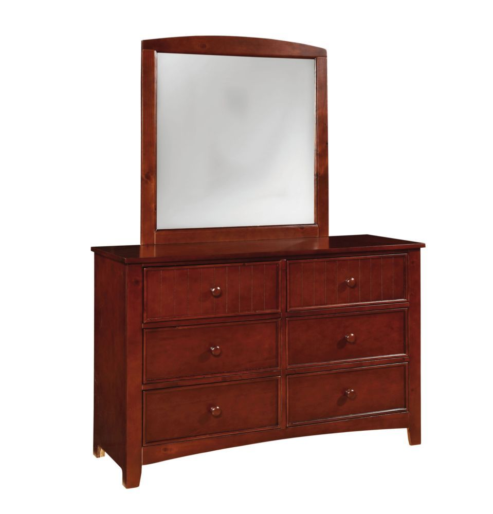 Furniture of America CM7905CH-D Omnus Cherry Dresser Mirror