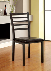 Furniture Of America Colman Black Metal Finish 2 Piece Dining Chair