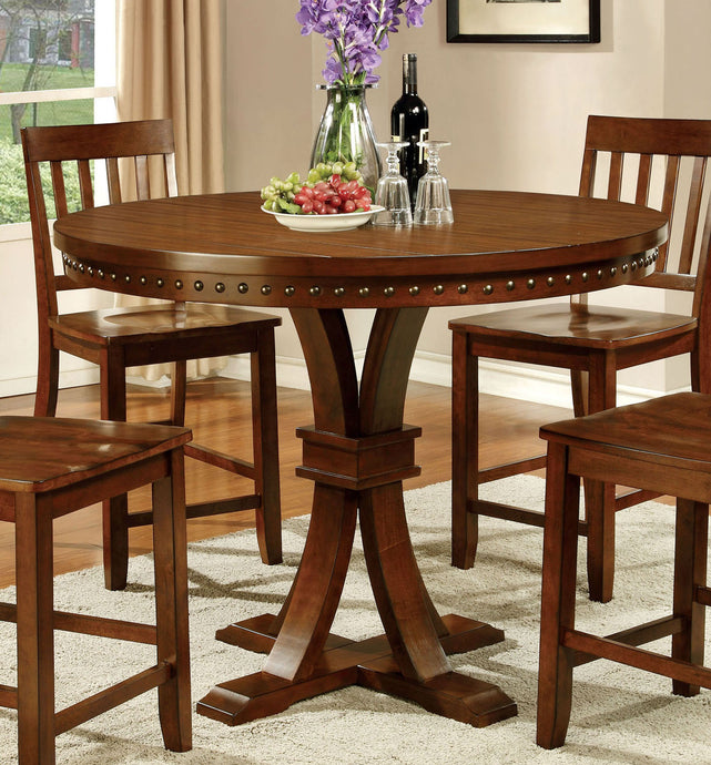 Furniture of America CM3437PT Foster II Dark Oak Counter Height Table