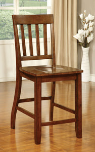 Foster II CM3437PC Transitional Dark Oak Counter Height Chair Set of 2