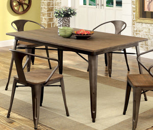 Furniture of America CM3529T Cooper I Natural Elm Dining Table