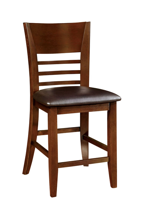 Hillsview CM3916PC 2Pcs Trasitional Brown Cherry Counter Height Chairs