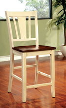 Load image into Gallery viewer, Dover CM3326WC-PC 2Pcs Transitional White Cherry Counter Height Chairs