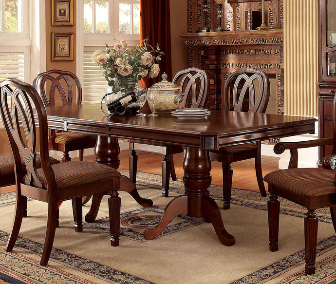 Furniture of America CM3527T Harwinton Traditional Cherry Dining Table