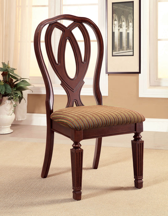 Harwinton CM3527SC 2 Pieces Traditional Cherry Finish Side Chair