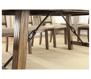 Colettte CM3562T Contemporary Rustic Oak Finish Dining Table