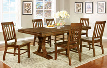 Load image into Gallery viewer, Furniture Of America Foster Dark Oak Wood Finish 7 Piece Dining Table Set