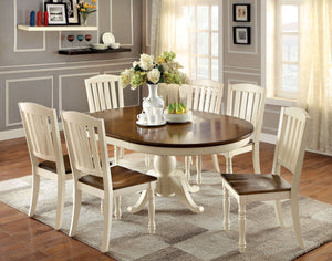 Harrisburg CM3216OT 7 Pieces Cottage Style Two Tone Wood Dining Set