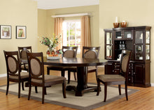 Load image into Gallery viewer, Furniture of America Evelyn Transitional 8 Piece Walnut Dining Table Set