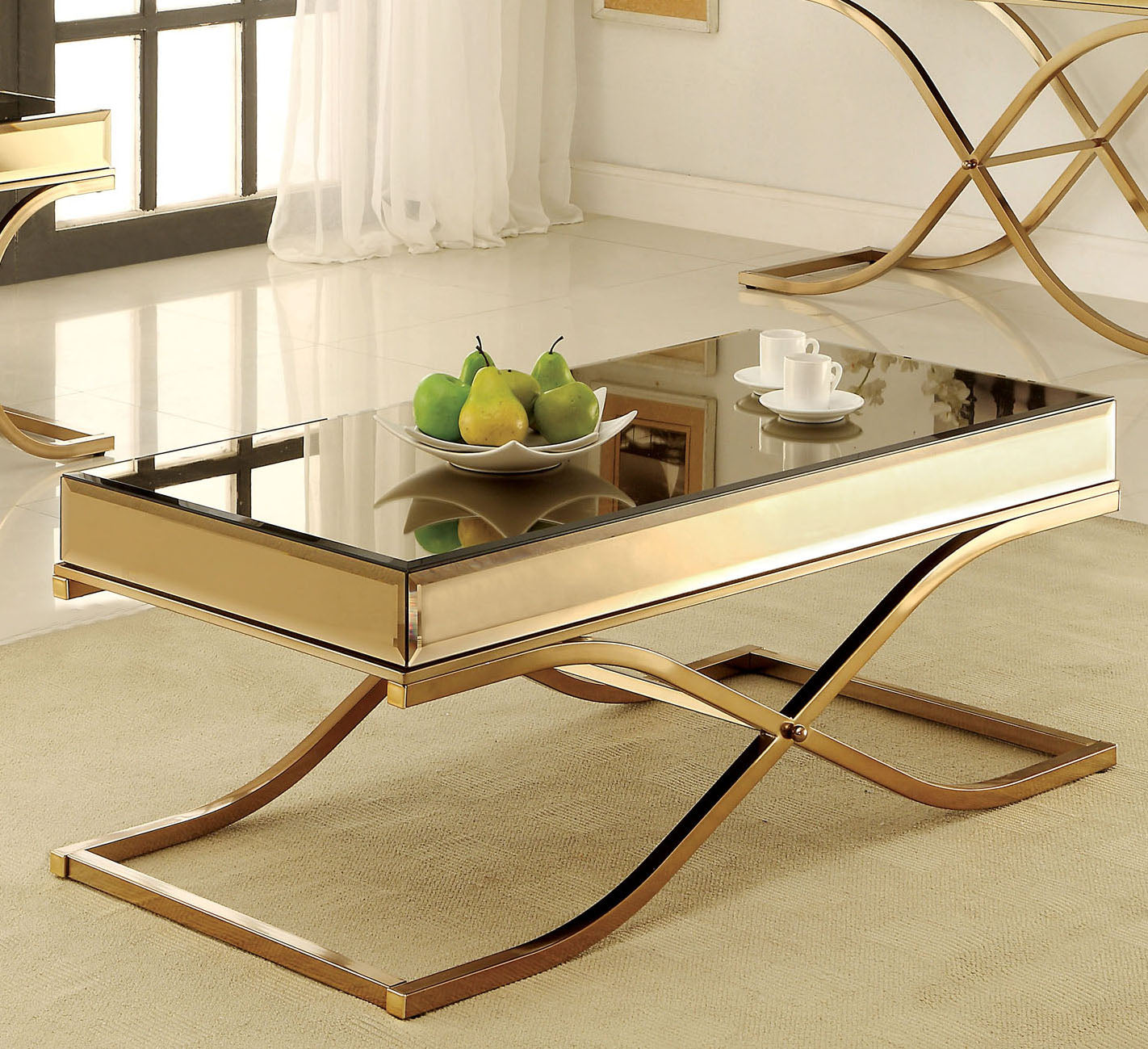 Sundance CM4230C Contemporary Brass Metal Coffee Table