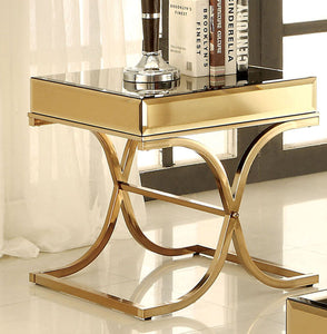 Sundance CM4230E Contemporary Brass Metal End Table