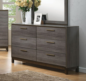 Manvel CM7867D Contemporary Two-Tone Antique Gray Finish Dresser