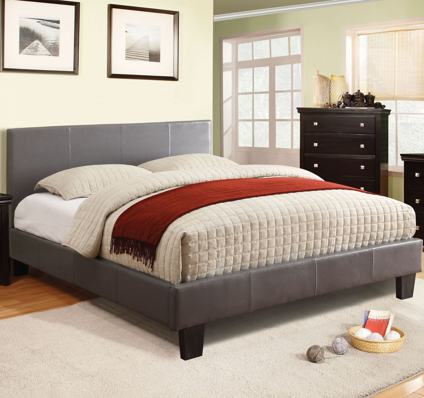 Winn Park CM7008GY-F Contemporary Gray Full Bed