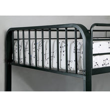 Load image into Gallery viewer, Clement CM-BK928TF Contemporary Black Metal Twin over Full Bunk Bed