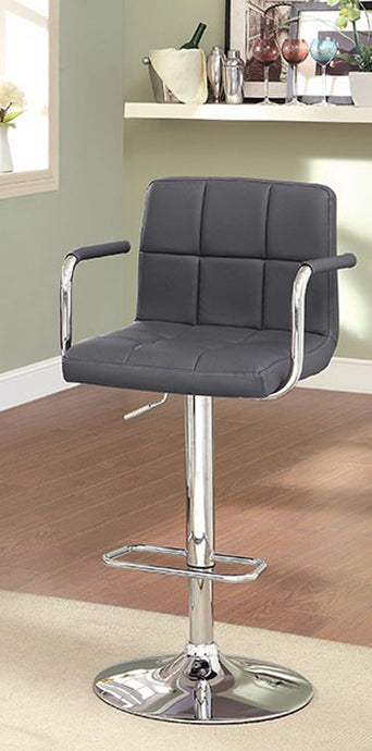 Corfu CM-BR6917GY Gray Finish Swivel Bar Stool With Armrests