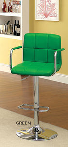 Corfu CM-BR6917GR Green Finish Swivel Bar Stool With Armrests