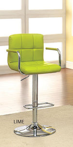 Corfu CM-BR6917LM Lime Finish Swivel Bar Stool With Armrests