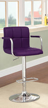 Load image into Gallery viewer, Corfu CM-BR6917PR Purple Finish Swivel Bar Stool With Armrests