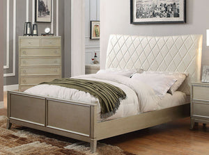 Enid CM7430EK Contemporary Silver Gray Finish Eastern King Bed