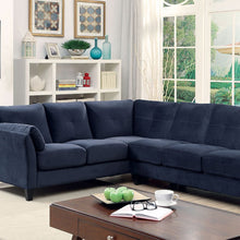 Load image into Gallery viewer, Furniture of America Peever II Navy Flannelette Sectional Sofa