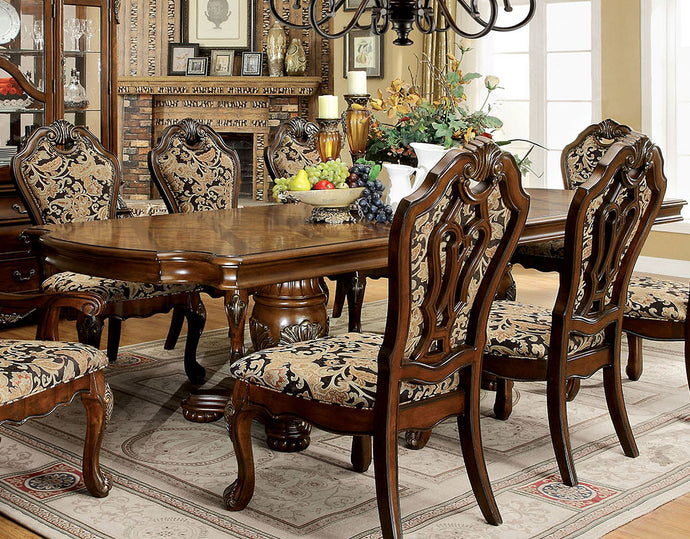 Furniture of America CM3243T Vicente Transitional Cherry Dining Table