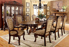 Load image into Gallery viewer, Furniture of America CM3557CH-T Medieve 9 Piece Transitional Cherry Dining Set