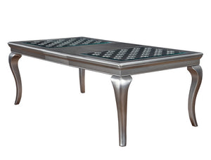 Furniture of America CM3219T Amina Contemporary Champagne Dining Table